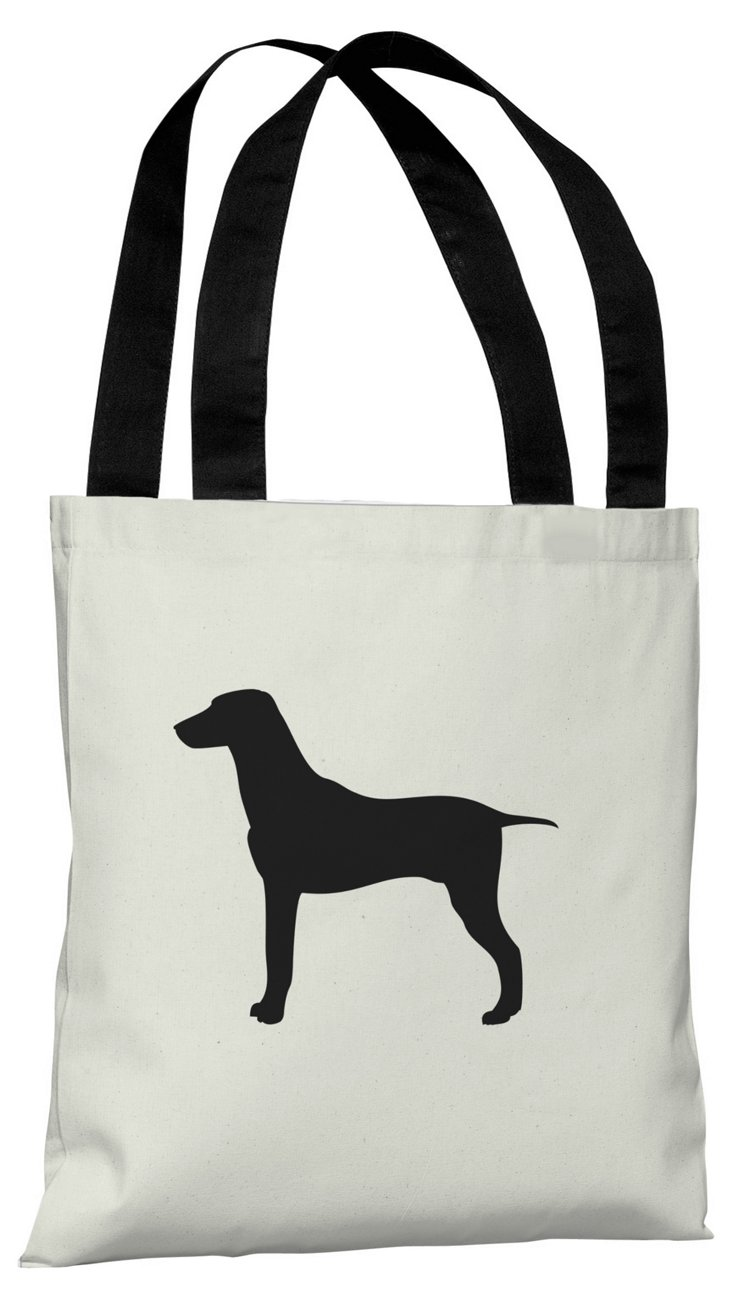 Large Mixed Breed Silhouette  Bag, Black
