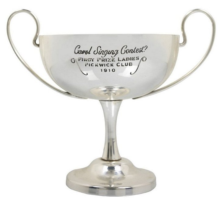 Miniature Carol Silver-Plate Trophy