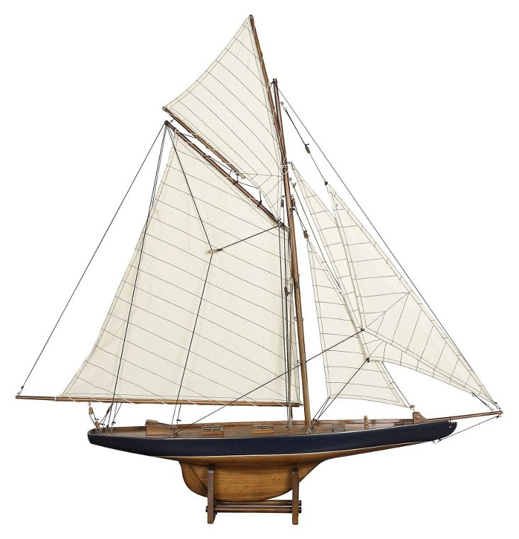 "37"" 1901 America's Cup Columbia Sailboat"
