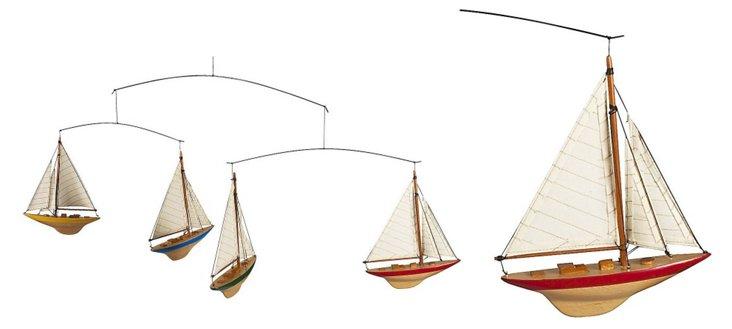 A-Cup Sailors Sailboat Mobile