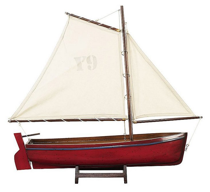 Madeira Y9 Sailboat Model, Red