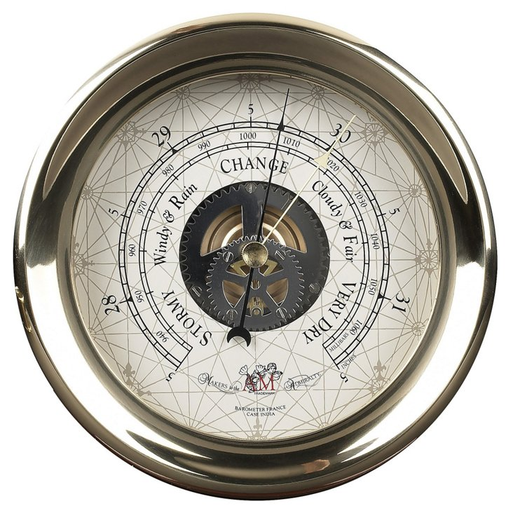 Captain's Barometer, Brass