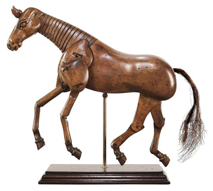 "9"" Artist Horse, Brown"