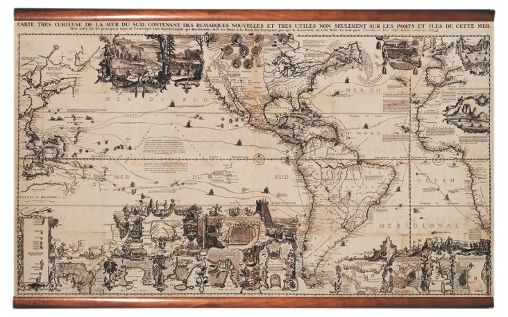 The Americas 1719 Wall Map