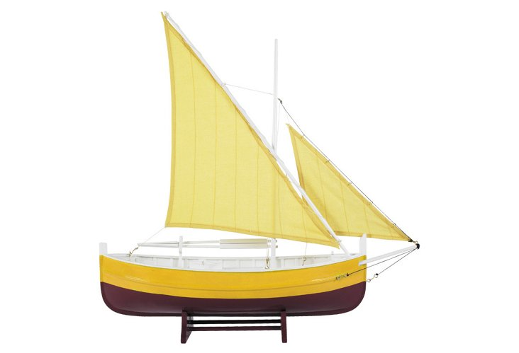 Biscay Fishing Sailboat, Yellow