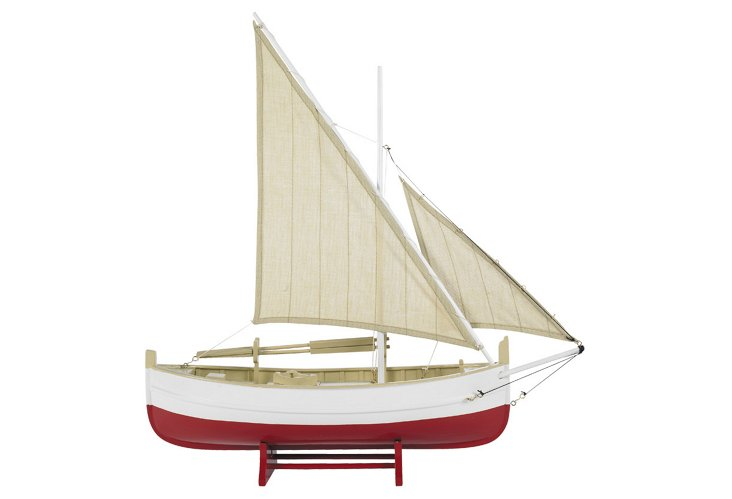 Biscay Fishing Sailboat, Red