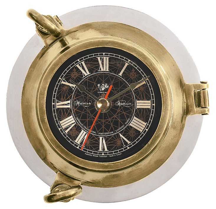 Porthole Clock, Brass