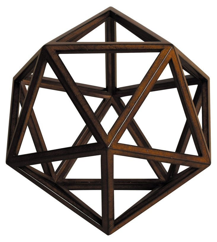 "10"" Geodesic Objet, Natural"