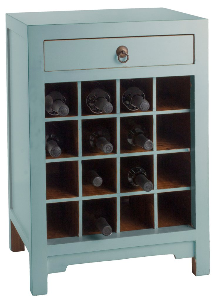 Essential Wine Cabinet, Blue