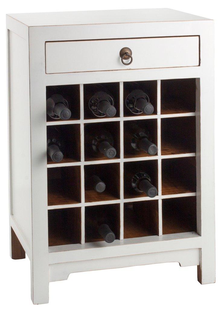 Essential Wine Cabinet, White