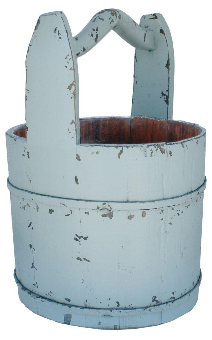 """20"""" Crescent Handle Bucket, Blue"""