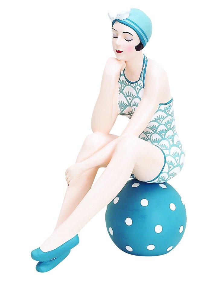 Shell Bathing Beauty on Ball, Blue