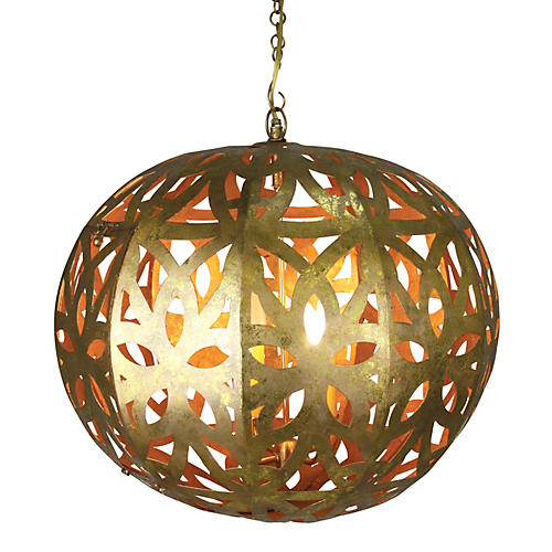 Marissa 4-Light Chandelier, Italian Gold
