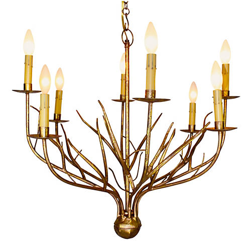 Lyanne 8-Light Chandelier, Italian Gold