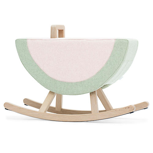 Watermelon Kids' Rocker, Pink/Green