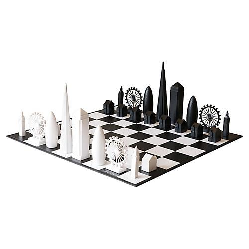 London Chess Set, Black/White