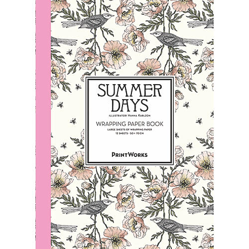 S/12 Summer Days Gift Wrap Sheets