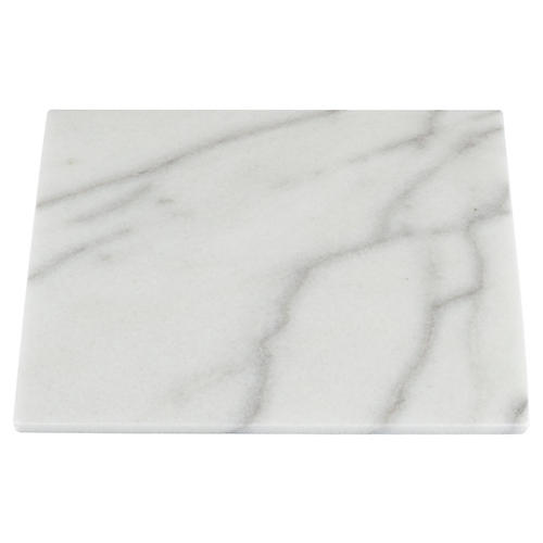 Marble Square Serving Board, White