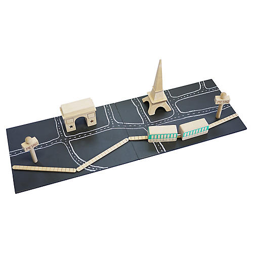 Kids' Paris Block Set, Black/Multi