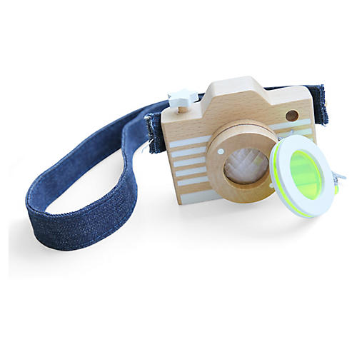 Kids' Camera Toy, Tan/Blue