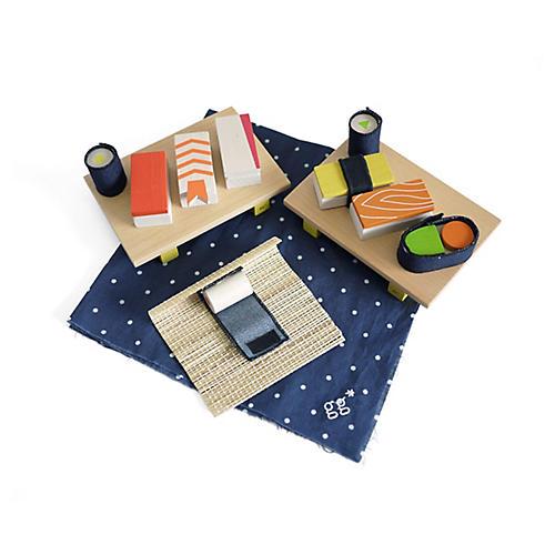 Kids' Sushi Block Set, Tan/Multi