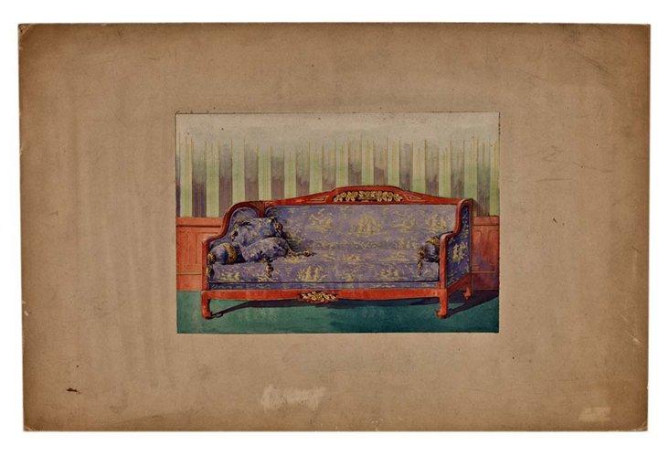 Lavender Sofa, Original Drawing