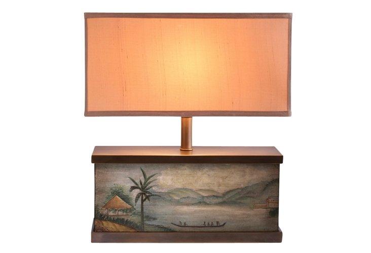 Randolf Painted Landscape Accent Lamp