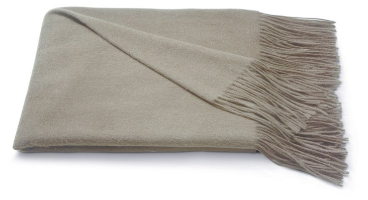 Cashmere Solid Throw, Taupe