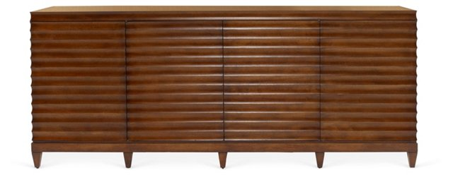 Fluted Low Cabinet, Wenge