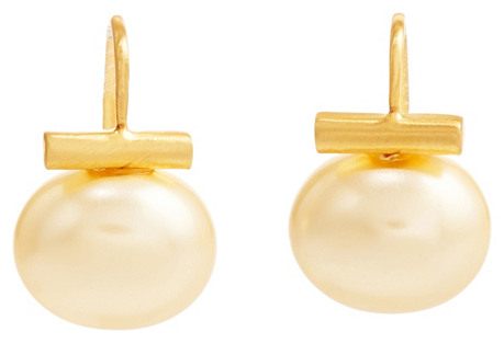 Mother-of-Pearl Drop Earrings, Butter