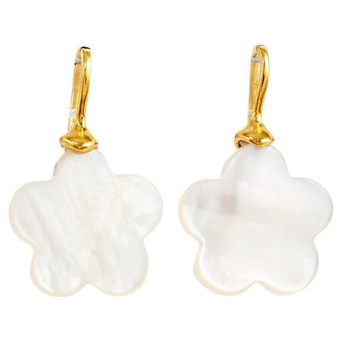 Mother-of-Pearl Flower Earrings