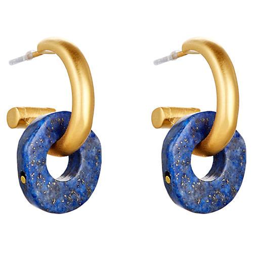Lapis Lazuli Donut Hoops