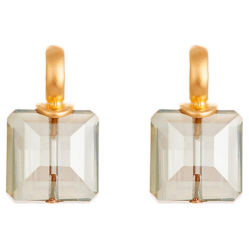 Rana Stud Earrings, Gray/Gold