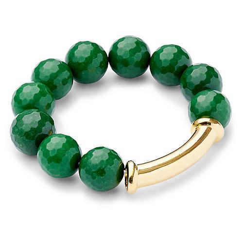 Green Quartz Stretch Bracelet, Green Quartz