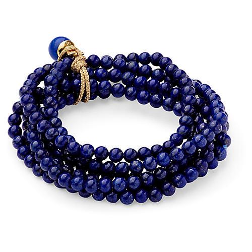 Lapis Lazuli Stretch Bracelet Set, Lapis Lazuli
