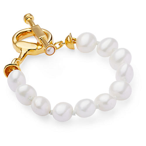 Mother-of-Pearl Snaffle Bit Bracelet