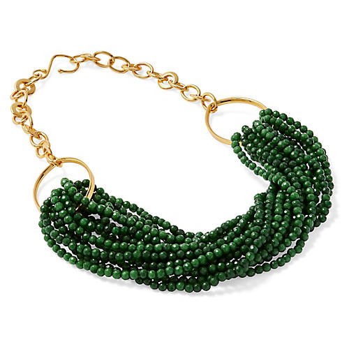 Jade Twisted Torsade Necklace