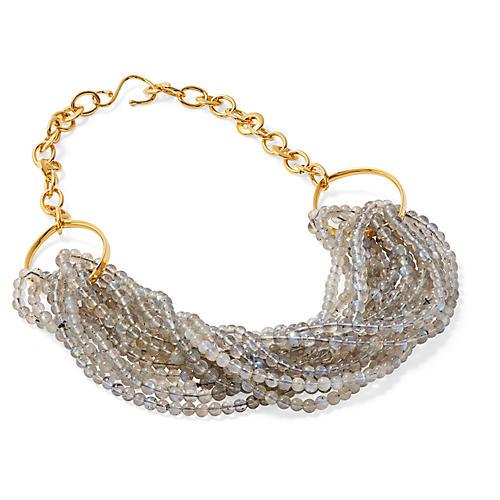Labradorite Twisted Torsade Necklace