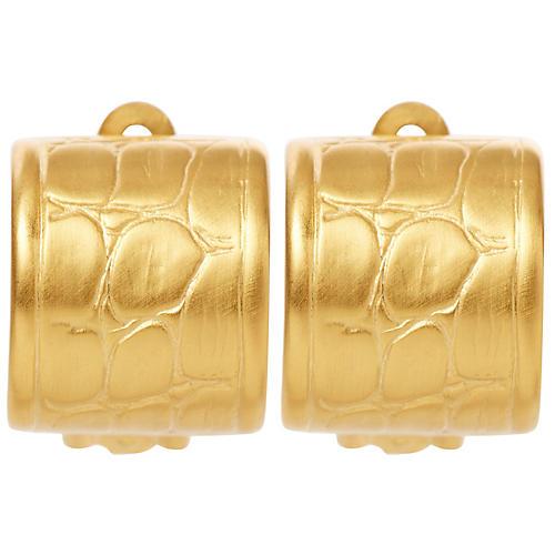 Alligator Clip-On Earrings, Brass