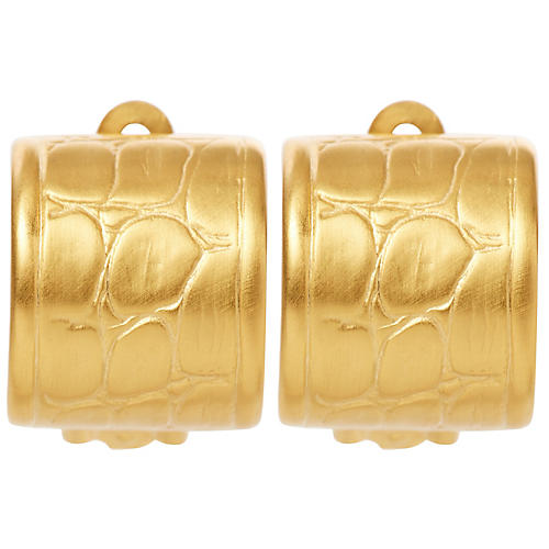 Alligator Clip-On Earrings, Brass
