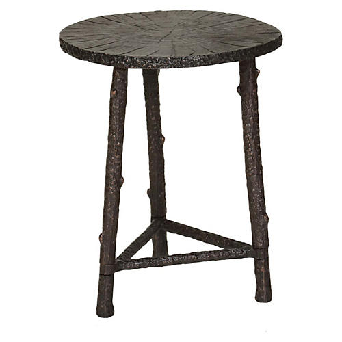 Willa Side Table, Antiqued Bronze