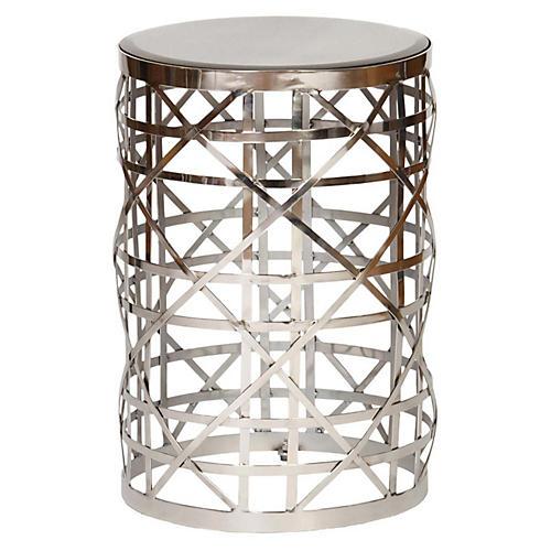 Christina Side Table, Silver