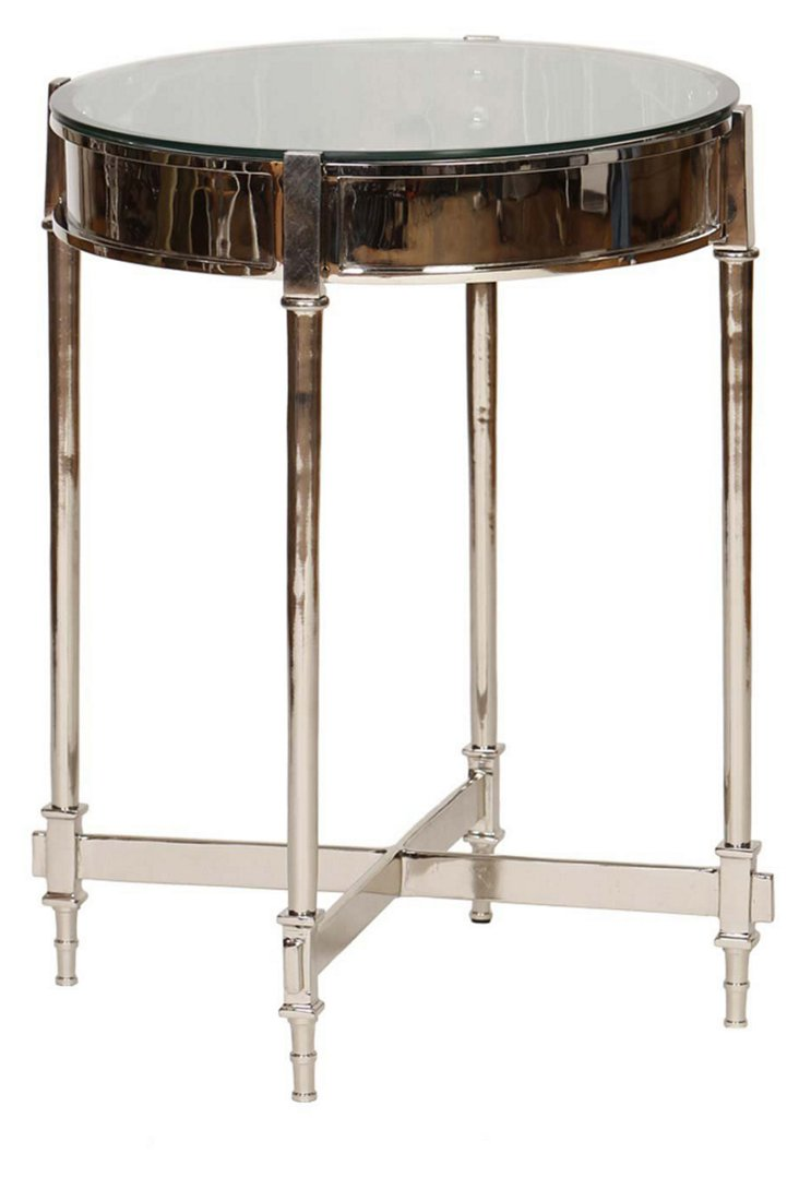 Antonio Side Table, Nickel