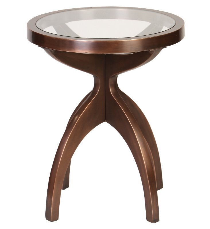 Cameron Side Table, Copper