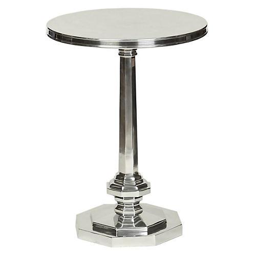 Tucker Side Table, Nickel