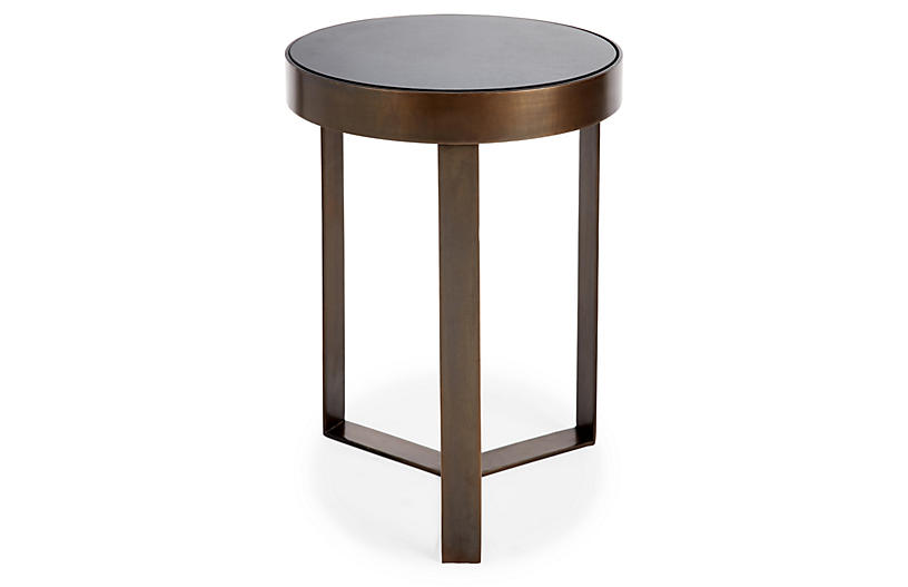 Sabine Side Table, Bronze