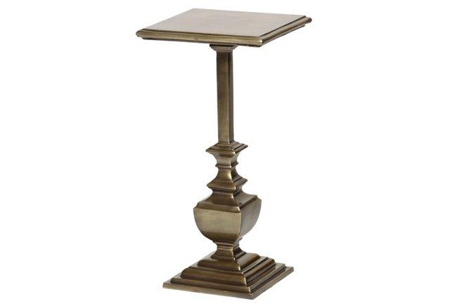 Sebastian Side Table, Brass