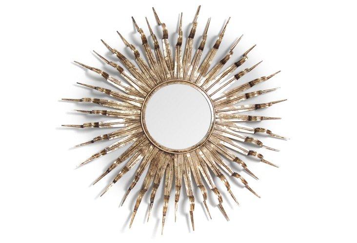 Heath Mirror, Antique Gold
