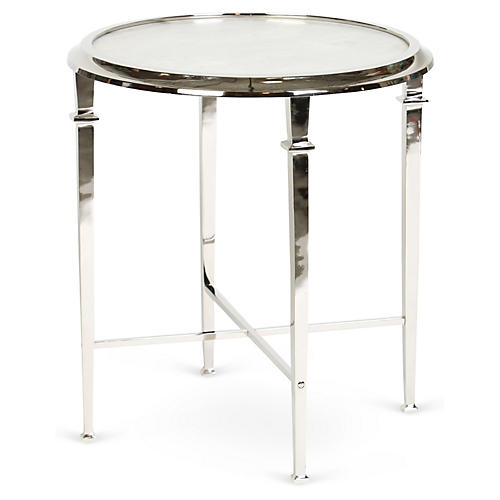 Julia Side Table, Nickel