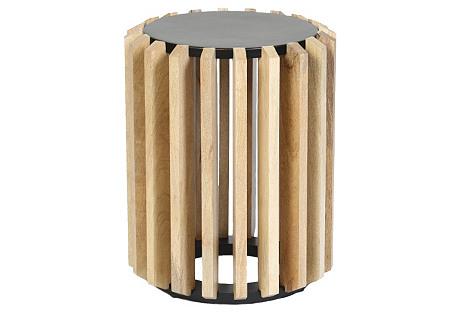 Barrett Side Table, Wood/Iron